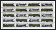 Canada — Full Pane of 20 — Canadian Locomotives #1118-1119 — MNH