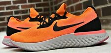 New!! Nike Mens Epic React Flyknit Copper Orange Running Shoes Size 10 (NK004)