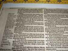Very Rare ORIGINAL 1586 GENEVA Bible Leaf JEHOVAH Ex 34:23  Watchtower research