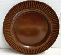 Vintage Crown Lynn Kelston Ceramics Brown Glaze Plate New Zealand c1960s-80s