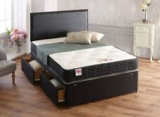 Somnior Beds 4-Drawer Topaz Divan Bed with Memory Foam Back Care Support Mattres