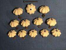 Antique Pumpkin Ceramic Door Knobs Drawer Cabinet Handles Lot of 12