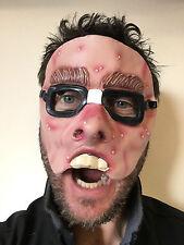 Funny Geek Half Face Mask Glasses Spotty Nerd Teeth Fancy Dress Stag Masks