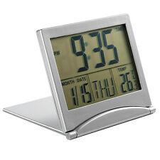Large Screen Digital LCD Alarm  Temp Calendar Timer Desk Snooze Foldable Clock