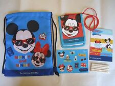 NEW Cathay Pacific Airlines Inflight Kids Disney Mickey Minnie Drawstring Bag