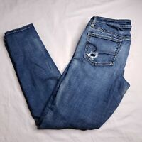 American Eagle Size 10 Super Stretch Low-Rise Jegging Distressed Destroyed Women