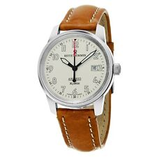 Revue Thommen Air Speed XL Silver Dial Leather Strap Mechanical Watch 16052.2532