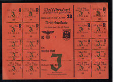 Original Germany WW 2 Food Rations Coupon Munich Bread
