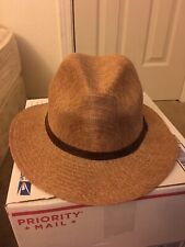 Stetson Hat Polyster Leather Strap Size Medium