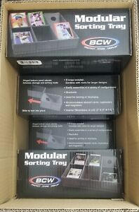 BCW Modular Sorting Tray For Sports & Gaming Cards (8 Box Case, 48 Trays) NEW