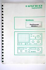 Hameg Instruments Oscilloscope hm203-5 Service-Manual/Guía/esquema eléctrico!