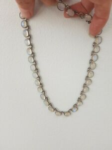 172z art deco silver 925 full moonstone necklace
