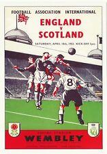 FOOTBALL  POSTCARD  -  THE SPORTING POSTCARD CO.  -  ENGLAND  V  SCOTLAND - 1953