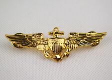 WWII us naval aviators wings metal Pin Badge Gold Replica