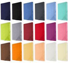 Topper Jersey Spannbetttuch 100% Baumwolle 90x200 / 140x200 / 180x200 cm Heim24h