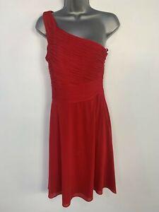 WOMENS COAST RED ONE SHOULDER WEDDING CRUISE BRIDESMAID EVENING DRESS SIZE UK 10