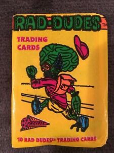 1990 Pacific Rad Dudes trading cards Pack