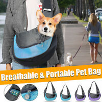 Pet Sling Carrier Hands Free Dog Puppy Cat Carry Bag Soft Puppy Shoulder