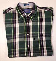 Pendleton Men's Short Sleeve Button Front Plaid Shirt Sz. L