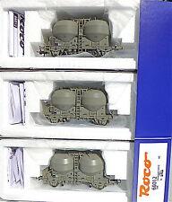 3pcs set de wagons SBB Wagon silo sous vide EpIII DB Roco 66012 1:87 KB5 micro