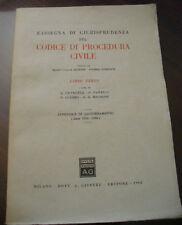 (PRL) ANTIQUE BOOK RARO 1962 LIBRO ANTICO CODICE PROCEDURA CIVILE TERZO RARE RAR