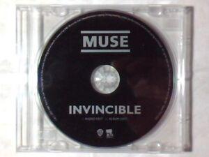 MUSE Invincible cd singolo PR0MO 2 TRACKS