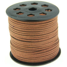 3mm brown Suede Leather String  Thread Cords Necklace Jewelry Making