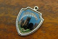 Vintage sterling silver COLUMBUS OHIO STATE TRAVEL SHIELD charm #E29