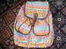 vintage Hippie Boho Rucksack neon backpack für festival goa etc. indie