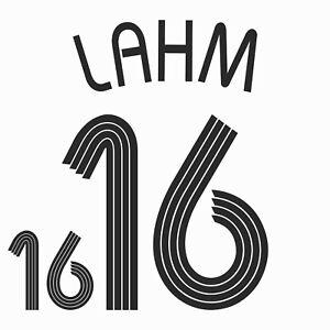 Lahm 16. Germany Home football shirt 2005 - 2006 FLEX NAMESET NAME SET