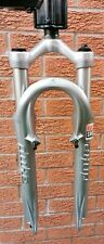 """Retro Rockshox Duke XC MTB suspension fork 80mm travel 1 1/8"""" 26"""" wheel, silver"""