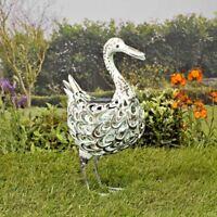 Smart Solar Metal Silhouette Duck Garden Patio Path Solar LED Light Ornament