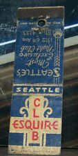 Vintage Early Midget Matchbook Cover X3 Seattle Washington Esquire Club 6th Ave