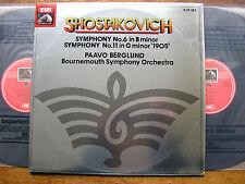 SLS 5177 SHOSTAKOVICH: SYMPHONIES Nos. 6 & 11 BERGLUND / BOURNEMOUTH  2LP  NM