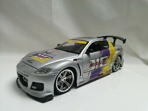 Jada Toys 1/18 Scale MAZDA RX8 Silver JIC Magic import racer JDM sports car