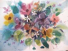 """REMEMBERING SUMMER"" original watercolor by American artist Micheal Jones"