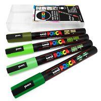 Uni POSCA - PC-3M Arte Pennarello Pittura Penne - 4 Confezione A - Verde
