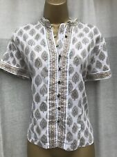 Anoki for east artisan indian cotton block print top size 16 (14)  hippy boho