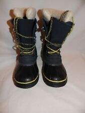 LL Bean Women's Black Waterproof Snow Winter Boots Removable Felt lining Size 7M