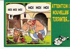 CARTE POSTALE ASTERIX *ATTENTION! NOUVELLES TORDANTES...*(GOSCINNY-UDERZO)