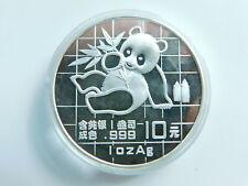 China 10 Yuan 1989 Panda 1oz Silbermünze👌(A2