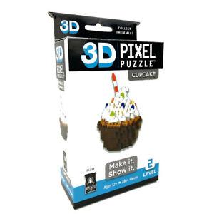Bepuzzled 246pc+ 3D Pixel Puzzles/Building Blocks/Toys/Game Kids 12y+ Cupcake
