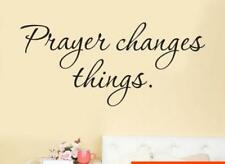 Prayer Changes Things Removable Art Vinyl Mural Home Room Decor Wall Stickers A
