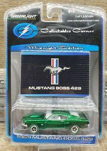 Greenlight 1969 Ford Mustang Boss 429 CHASE Green Machine *MIB*