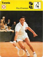 1977 Sportscaster Card Tennis Roy Emerson # 22-10 NRMINT.