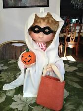 Santa's Best Halloween Kids Animated Collectible Trick or Treat Ghost w Pumpkin