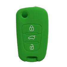 Green Silicone Remote Flip Key Cover Holder Cover fit for KIA Sportage Optima