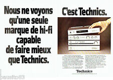 PUBLICITE ADVERTISING 086  1979  Technics (2p)  la mini-série  ampli
