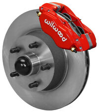 "WILWOOD DISC BRAKE KIT,FRONT,65-69 FORD,MERCURY,11.30"" ROTORS,RED CALIPERS,LINES"