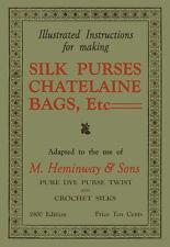 Heminway Chatelaine Crochet Purses c.1900 Vintage Victorian Pattern Book